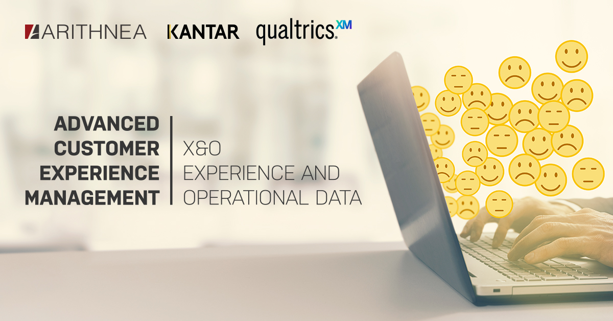 Advanced Customer Experience Management Webinar mit ARITHNEA, Kantar und qualtrics