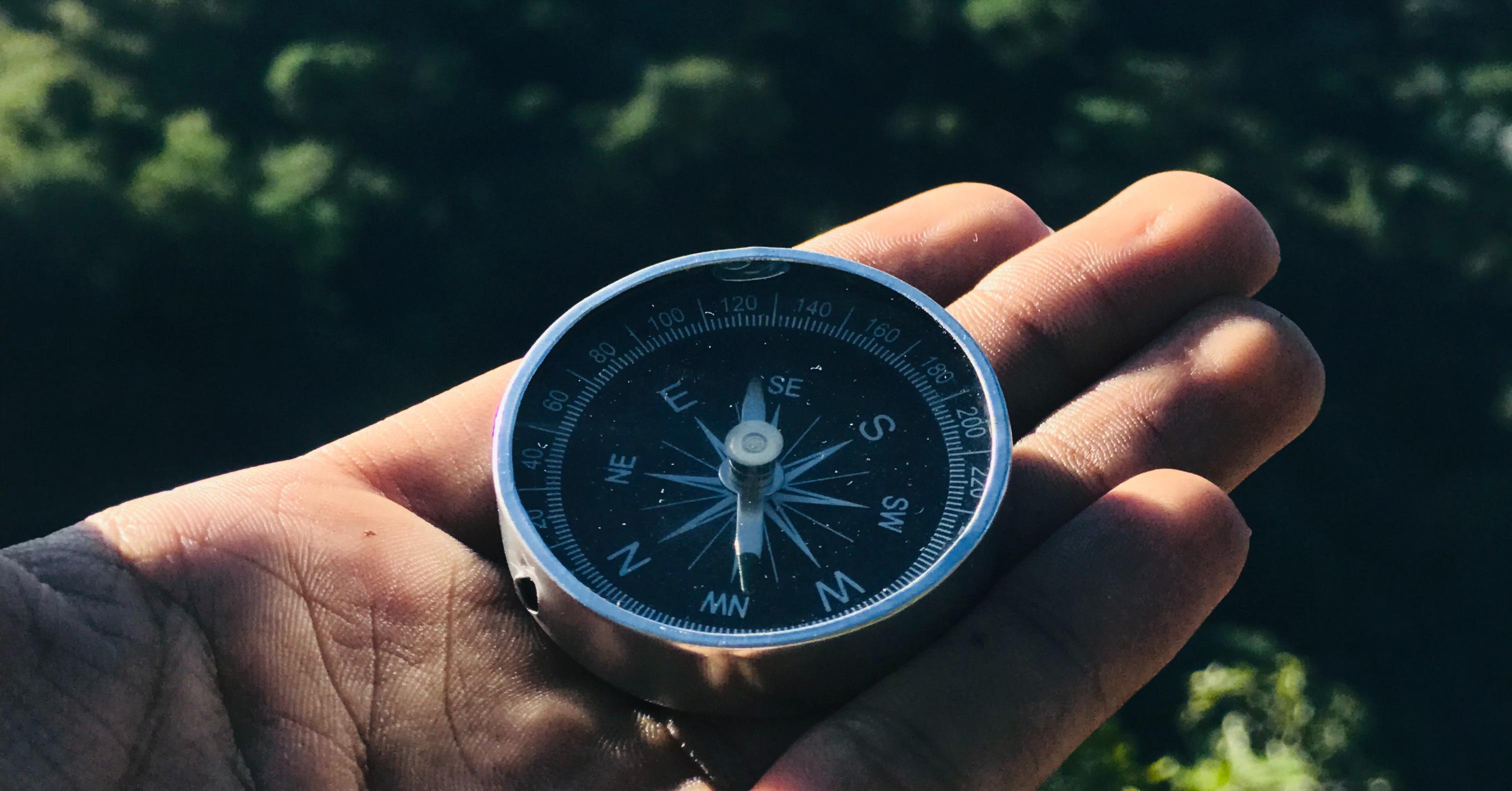 Kompass mit dem Kunden im Mittelpunkt