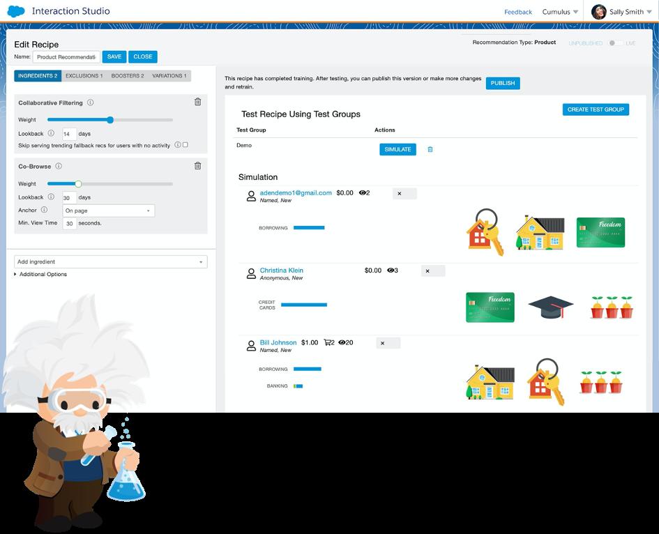 Salesforce Interaction Studio Personalisierung